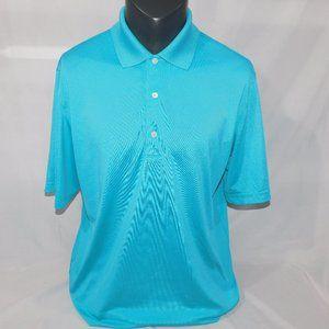Greg Norman mens L light Blue Polo Golf Shirt